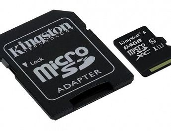 Карта памяти Kingston microSDXC UHS-I (Class 10) 64GB